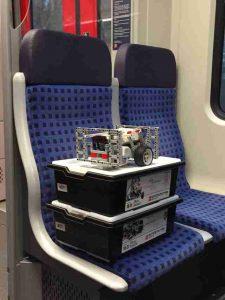 Unser Legoroboter auf dem Weg nach Stuttgart.
